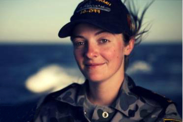 A female in Australian defence force uniform