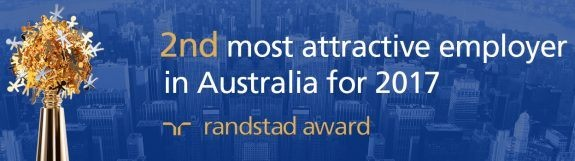 2nd most attractive employer in Australia 2017