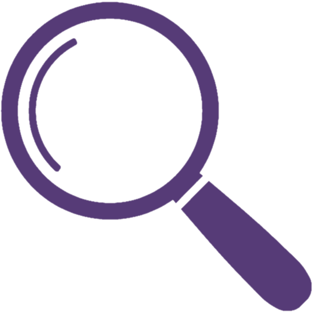 Magnifying glass icon to indicate search link